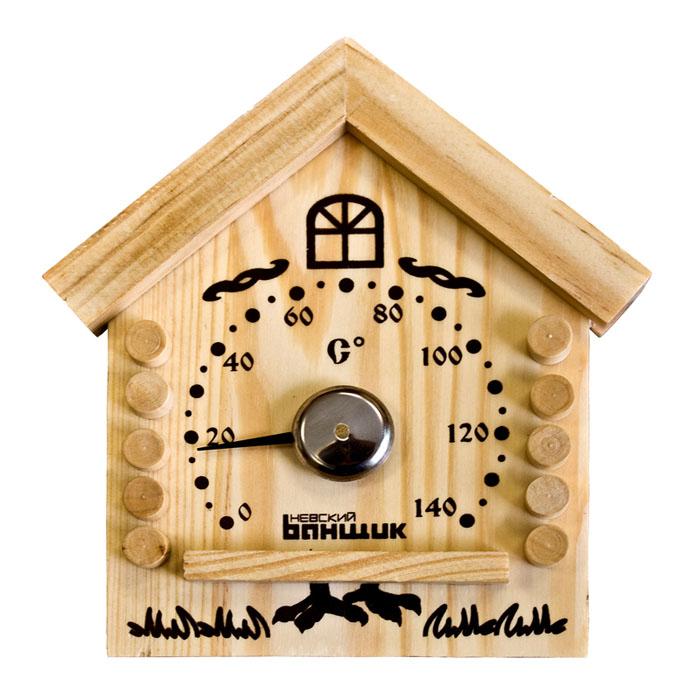 Термометр для бани и сауны ИзбушкаБ1153Термометр (градусник) биметаллический (механический) является необходимым аксессуаром для измерения температуры в бане или сауне до 140 С. Внешний вид дополнит интерьер Вашей бани или сауны. Характеристики:Производитель: Россия.Артикул: Б1153.