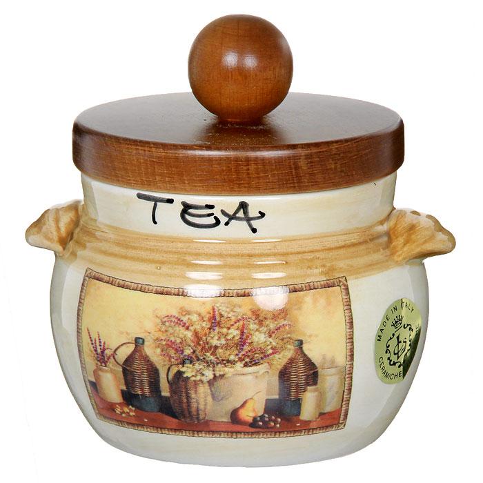 Банка для продуктов LCS Натюрморт Tea 0,5 л LCS670PLTV-AL столовая посуда lcs банка для сыпучих продуктов подсолнухи италии соль lcs871 ln s al
