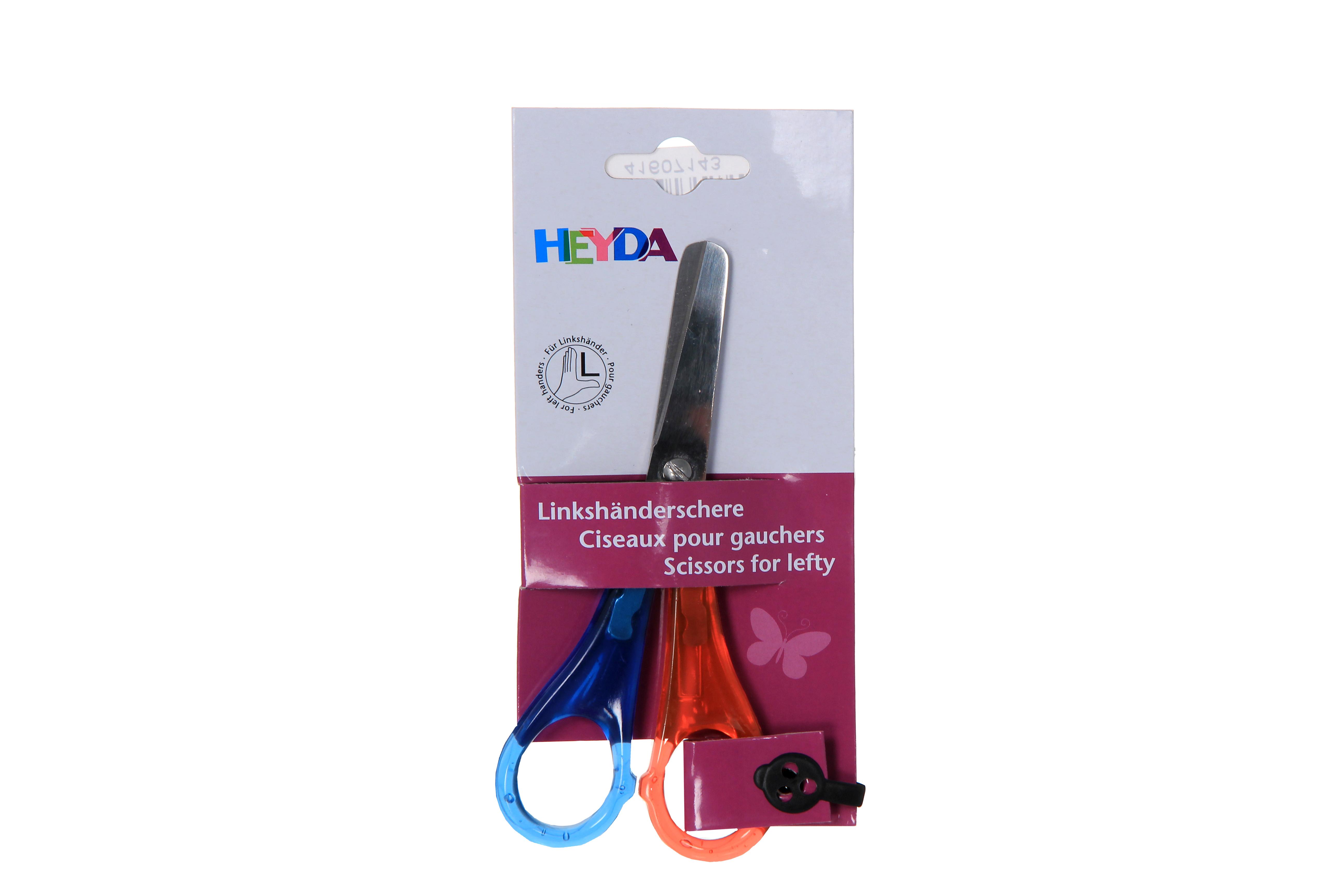 Ножницы канцелярские  Heyda  для левшей, в ассортименте -  Канцелярские ножи и ножницы