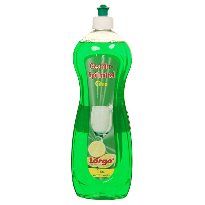 Средство для мытья посуды Largo, с ароматом лимона, 1 л60002Концентрированное средство для мытья посуды Largo c формулой быстрого и полного растворения жира. Средство бережно относится к коже рук, не раздражает и не повреждает ее. Экономно в расходовании. Характеристики: Объем: 1 л. Производитель: Германия. Артикул: 60002. Товар сертифицирован.Как выбрать качественную бытовую химию, безопасную для природы и людей. Статья OZON Гид