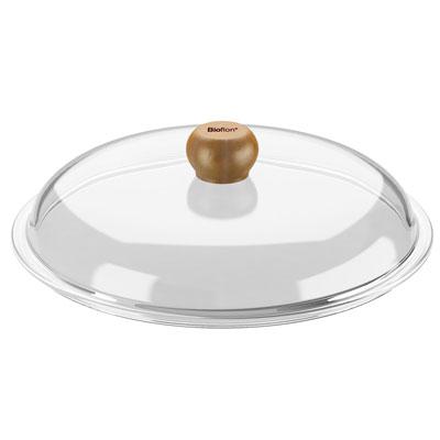 Крышка стеклянная Bioflon, диаметр 24 см8009924Вашему вниманию предлагается крышка Bioflon изготовленная из термостойкого стекла. Ручка выполненная из дерева и не позволит вам обжечься. Характеристики:Материал: стекло. Диаметр: 24 см. Изготовитель: Франция.