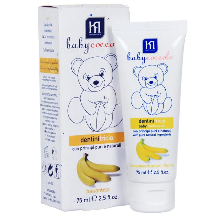 Зубная паста Babycoccole Банан, 75 мл babycoccole зубная паста со вкусом банана 75мл babycoccole