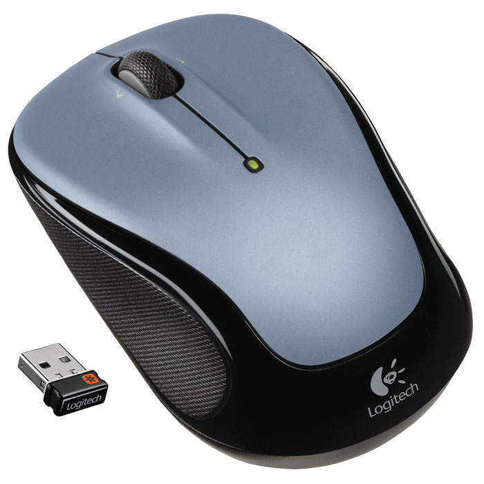Logitech M325 Wireless Mouse, Light Silver (910-002335)