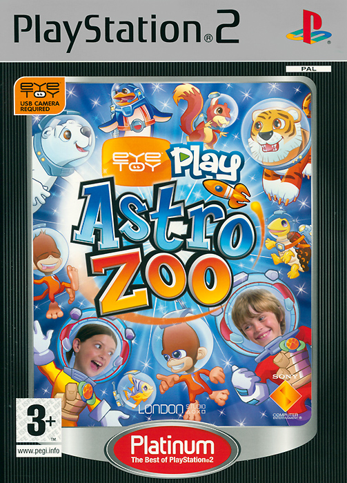 EyeToy: Play Astro Zoo. Platinum (PS2) eyetoy play sports platinum камера ps2