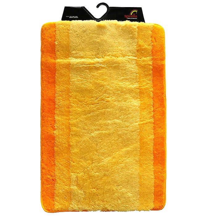 Коврик Balance, цвет: оранжевый, 60 х 90 см1009225Коврик для ванной комнаты Balance выполнен из акрила высокого качества. Прорезиненная основа коврика позволяет использовать его во влажных помещениях, предотвращает скольжение коврика по гладкой поверхности, а также обеспечивает надежную фиксацию ворса. Коврик добавит тепла и уюта в ваш дом. Хорошо переносит машинную стирку и отжим в центрифугах, а также подходит для полов с подогревом. Характеристики:Материал: 100% акрил. Размер:60 см х 90 см. Производитель: Швейцария. Изготовитель: Китай. Артикул: 1009225.