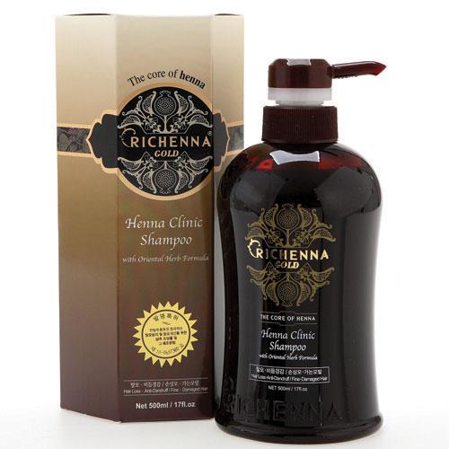 Шампунь для волос Richenna. Gold, с хной и комплексом восточных трав, 500 мл шампуни richenna шампунь для волос с хной 500 мл