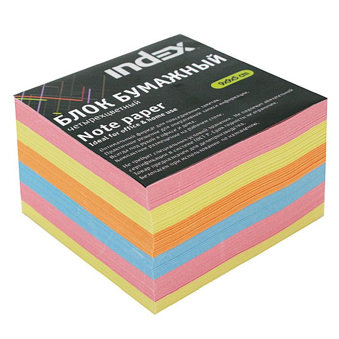 Бумага для записей многоцветная Index, 90х90х50IPC995cБумага для записей Index - необходимый настольный аксессуар делового человека.Блок состоит из листов разноцветной бумаги, что помогает лучше ориентироваться во множестве заметок. А яркий блок-кубик на вашем рабочем столе поднимет настроение Вам и Вашим коллегам! Характеристики: Размер листа: 9 см х 9 см. Размер блока: 9 см х 9 см х 5 см. Изготовитель: Беларусь.