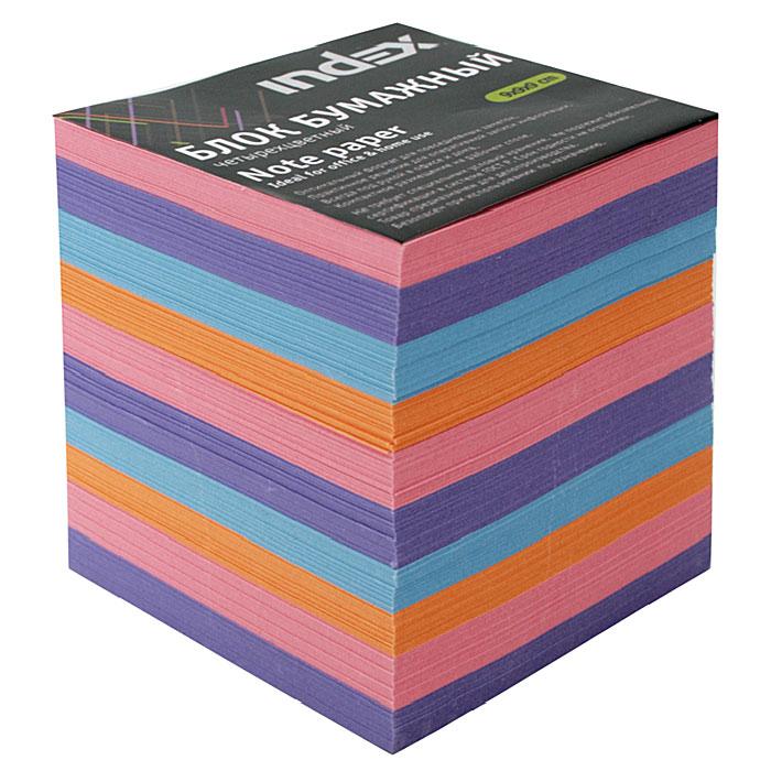 Бумага для записей многоцветная Index, 90х90х90I9910/N/RБумага для записей Index - практичное решение для оперативной записи информации в офисе или дома. Блок состоит из листов разноцветной бумаги, что помогает лучше ориентироваться во множестве повседневных заметок.А яркий блок-кубик на вашем рабочем столе поднимет настроение Вам и Вашим коллегам! Характеристики: Размер листа: 9 см х 9 см. Размер блока: 9 см х 9 см х 9 см. Изготовитель: Беларусь.