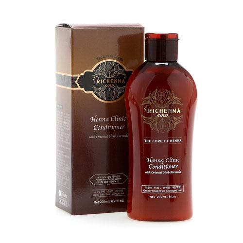 Richenna Кондиционер для волос Gold, с хной и комплексом восточных трав, 200 мл краска для волос richenna палитра