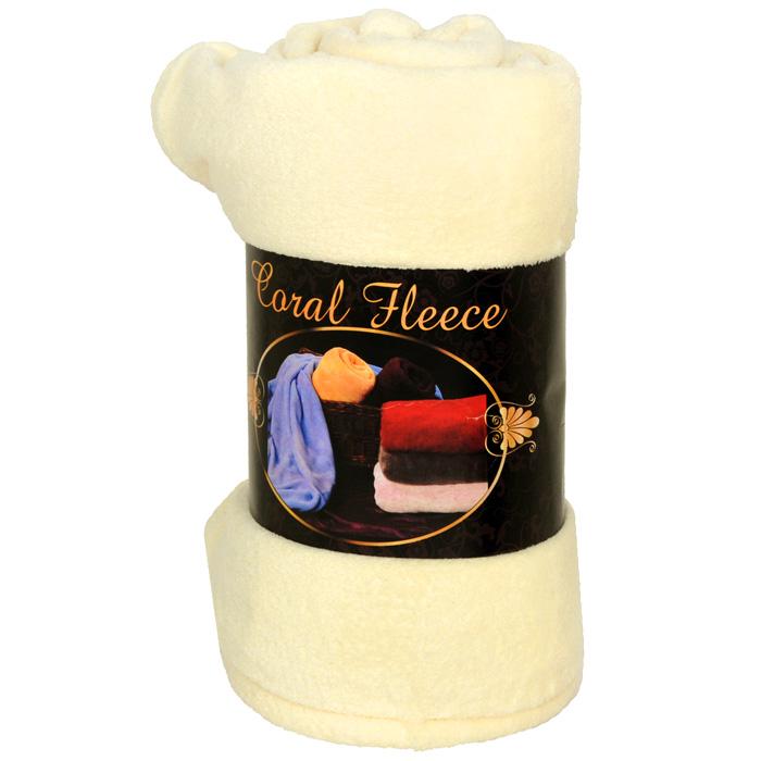 Плед флисовый Coral Fleece, цвет: слоновая кость, 220 х 200 см87-V362/1Приятный на ощупь плед Coral Fleece, выполненный из микроволокна, добавит комнате уюта и согреет в прохладные дни. Он имеет две одинаковые стороны. Удобный, большой размер этого очаровательного пледа позволит вам использовать его и как одеяло, и как покрывало для кресла или софы. Плед сохраняет всесвои свойства после многократных стирок. Такое теплое украшение может стать отличным подарком друзьям и близким! Характеристики: Материал: 100% полиэстер. Размер: 220 см х 200 см. Цвет: слоновая кость. Изготовитель:Китай. Артикул: ПФСК-200х200.