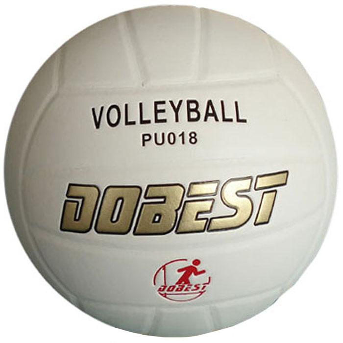 """Мяч волейбольный """"Dobest"""", клееный.   Характеристики:Материал: полиуретан.  Камера: бутил.  Размер: 5.  Цвет: белый.  Вес: 260-280 г.  Артикул: PU018.  Производитель: Китай."""