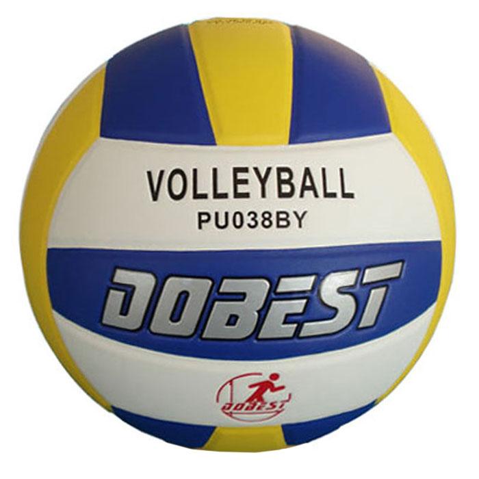 Мяч волейбольный Dobest. PU038PU038Мяч волейбольный Dobest, клееный. Характеристики:Материал: полиуретан.Камера: бутил.Размер: 5.Вес: 260-280 г.Артикул: PU038.Производитель: Китай.