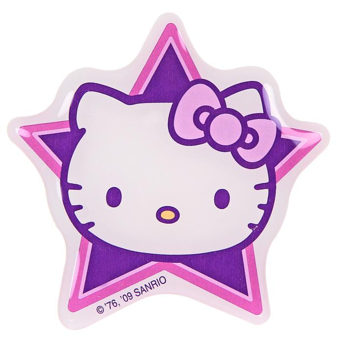 Наклейка Hello Kitty3491Наклейка Hello Kitty на фоне симпатичной сиреневой звезды привлечет внимание Вашей малышки и не позволит ей скучать!Hello Kitty (Хелло Китти) - персонаж японской поп-культуры - маленькая белая кошечка в упрощенной рисовке. Торговая марка Hello Kitty, зарегистрированная в 1976 году, используется в качестве бренда для многих продуктов и стала главным героем одноименного мультсериала. Игрушки Hello Kitty - популярные в Японии и во всем мире сувениры. Характеристики: Размер наклейки: 9 см х 9 см.