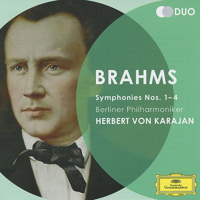 Герберт Караян,Berliner Philharmoniker Herbert Von Karajan. Brahms. Symphonies Nos. 1-4 (2 CD) bruckner herbert von karajan symphonies 8