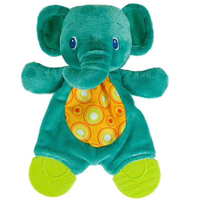 Bright Starts Развивающая игрушка с прорезывателями Самый мягкий друг Слоненок