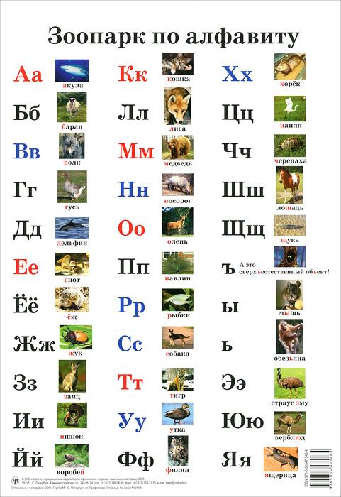 Зоопарк по алфавиту. Плакат