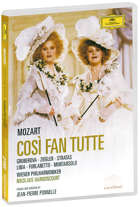 Фото Mozart, Nikolaus Harnoncourt: Cosi Fan Tutte (2 DVD). Покупайте с доставкой по России