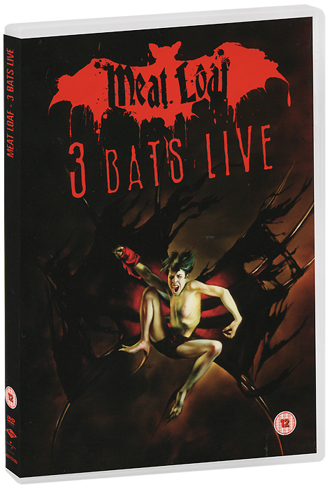 Meat Loaf: 3 Bats Live (2 DVD) date display automatic mechanical watch with hollow out back cover for men vigosh 8355b