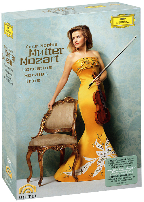 Фото Mozart, Anne-Sophie Mutter: Violin Concertos, Sonatas, And Trios (5 DVD). Покупайте с доставкой по России