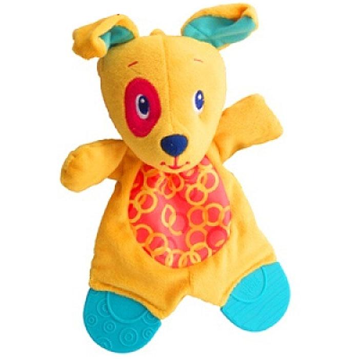 Bright Starts Развивающая игрушка с прорезывателями Самый мягкий друг Собачка
