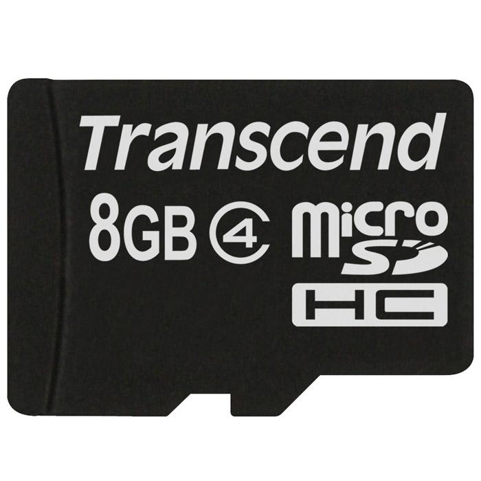 Transcend microSDHC Class 4 8GB карта памяти карта памяти transcend 8gb microsdhc class 10 uhs i 300x premium adapter ts8gusdu1
