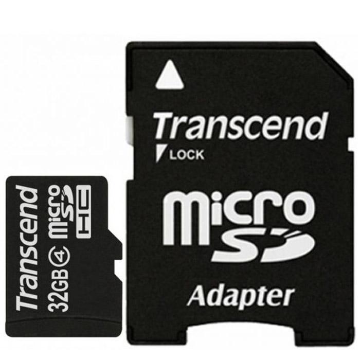 Transcend microSDHC Class 4 32GB карта памяти + адаптерTS32GUSDHC4Карта памяти Transcend microSDHC Class 4 идеально подойдет для хранения большого объема информации.Корректирующий код (ECC) для обнаружения и устранения ошибок при передаче информацииВозможность внутрисистемного программирования (ISP) для обновления микропрограммыПоддержка автоматического ждущего режима, режима выключенного питания и спящего режимаМеханическое переключение защиты записиСоответствие стандартам RoHSВнимание: перед оформлением заказа убедитесь в поддержке вашим электронным устройством карт памяти данного объема.