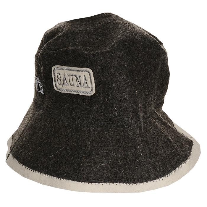 Шапка для бани и сауны Панама, цвет: серый giftman шапка для бани с легким паром фетр