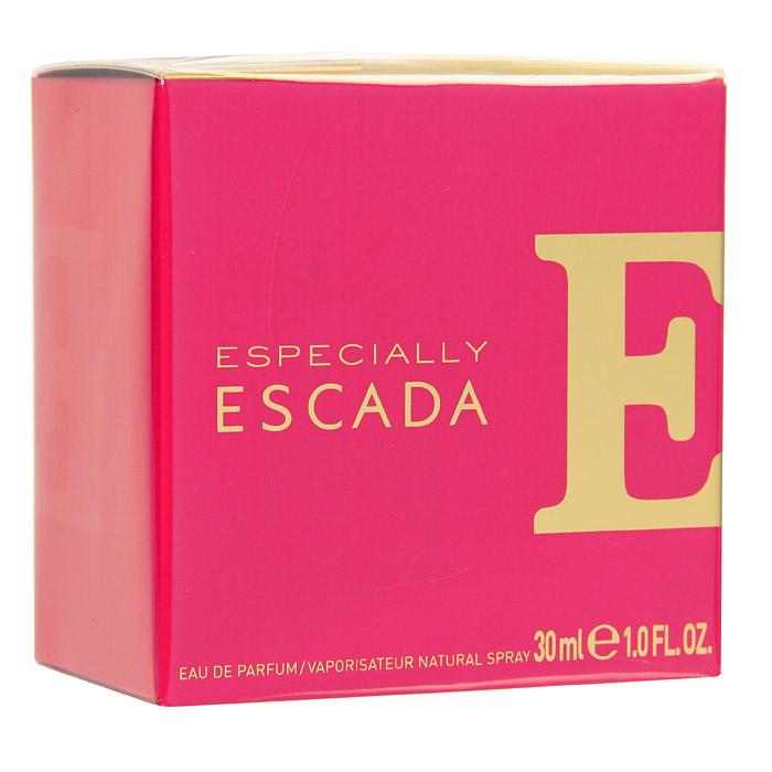 Escada Especially. Парфюмированная вода, 30 мл0737052429977Especially ESCADA – ода женственности, оптимизму и хорошему настроению. Композиция аромата, построенная на сочетании цветочно-фруктовых нот, привлекает своей искрящейся яркостью и динамикой. Especially ESCADA создан для веселых, непосредственных красавиц. Для тех, кто ценит каждый миг жизни и стремится сделать его ярким, неповторимым и незабываемым. Верхняя нота: Роза, иланг-иланг. Средняя нота: груша. Шлейф: акватический аккорд, мускус. Утонченный, изысканный и женственный аромат Especially Escada построен на благородном аромате розы. Дневной и вечерний аромат.