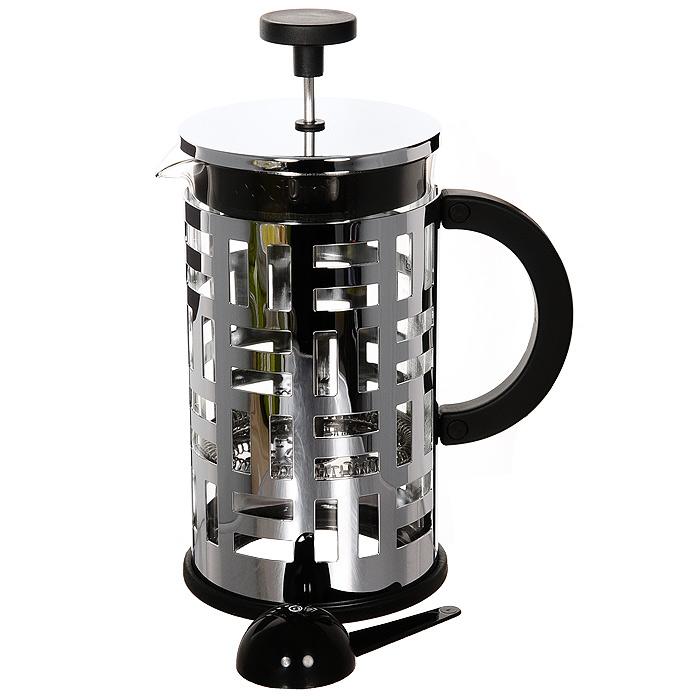 Кофейник Eileen с прессом, 1 л11195-16Кофейник Eileen займет достойное место на вашей кухне. Оснащен фильтром french press. К кофейнику прилагается мерная ложечка. Современный дизайн полностью соответствует последним модным тенденциям в создании предметов бытовой техники. Настоящим ценителям натурального кофе широко известны основные и наиболее часто применяемые способы его приготовления: эспрессо, по-турецки, гейзерный. Однако существует принципиально иной способ, известный как french press, благодаря которому приготовление ароматного напитка стало гораздо проще. Профессиональная серия Eileen была задумана и создана в честь великого архитектора и дизайнера - Эйлин Грей (Eileen Gray). При создании серии были особо учтены соображения функционального удобства. Стильный внешний вид и практичность в использовании сделали Eileen чрезвычайно востребованной серией.Характеристики:Материал:нержавеющая сталь, стекло, пластик. Объем: 1 л. Размер упаковки: 22 см х 15,5 см х 11,5 см. Производитель: Швейцария. Артикул:11195-16.