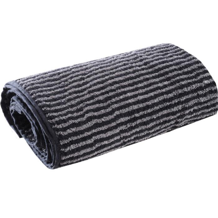 """Махровые полотенца коллекции """"Ilta (Илта)"""", выполнены из натурального хлопка, деликатно ухаживают за кожей, хорошо поглощают влагу и дарят необыкновенную мягкость и комфорт.  Этим полотенцам не страшна многократная стирка - они не теряют своей яркости и мягкости благодаря качественной махровой ткани.   Характеристики: Материал:  100% хлопок. Размер полотенца:  50 см х 100 см. Цвет:  черный, серый. Производитель:  Россия. Артикул:  114."""
