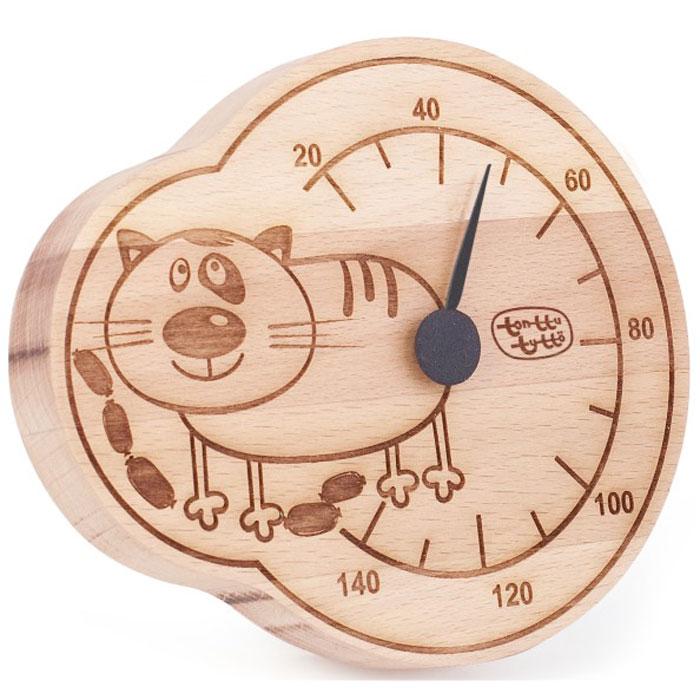 Термометр для бани и сауны Tapio (Тапио). 257257Термометры серии Tapio (Тапио) выполнены из древесины бука, обладающего притягательным розоватым цветом, ее плотность прекрасно переносит перепады температуры, что увеличивает срок службы изделий. Созданные для контроля оптимальной температуры в бане и сауне, они задают стиль банного интерьера.Стрелка механизма меняет настроение озорных персонажей термометров в зависимости от температуры. Максимальная измеряемая температура - 140 градусов. Характеристики: Размер термометра: 13,5 см х 16 см. Материал: дерево, металл. Производитель: Россия. Артикул: 257.
