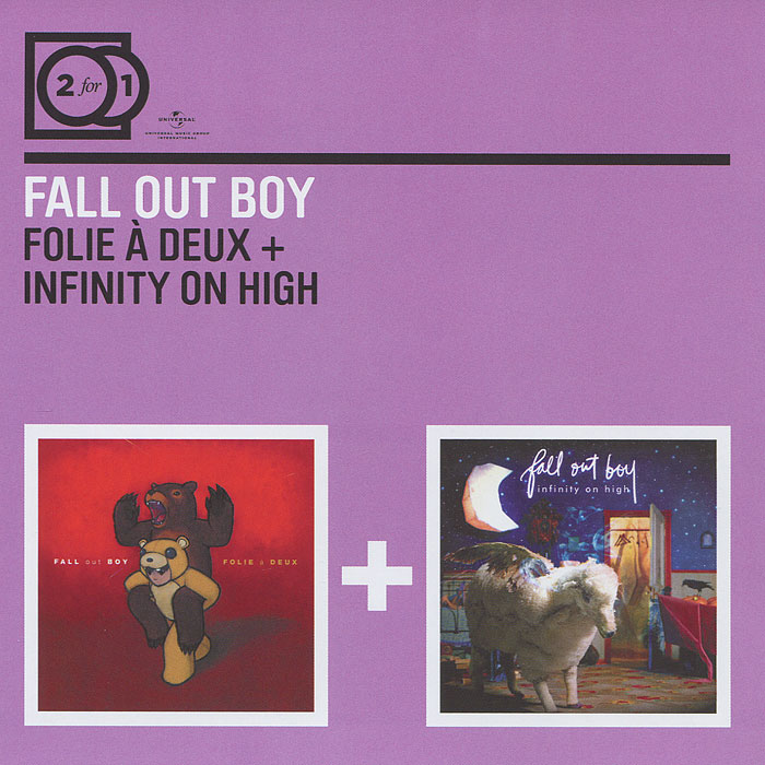 Fall Out Boy Fall Out Boy. Follie A Deux / Infinity On High (2 CD) fall out boy – mania cd