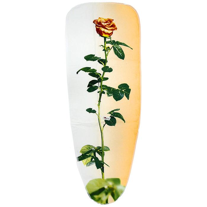 """Чехол для гладильной доски """"Чайная роза"""", 120 см х 43 см"""