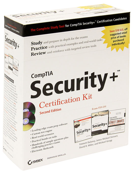 CompTIA Security+: Certification Kit (комплект из 3 книг + 2 CD-ROM) quentin docter comptia it fundamentals study guide exam fc0 u51