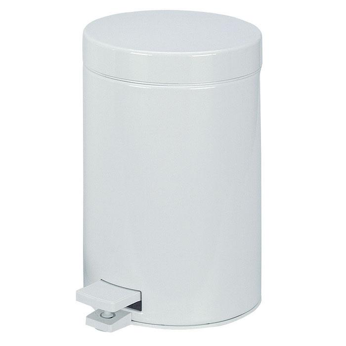 Бак мусорный Brabantia, с педалью, цвет: белый, 3 л. 109348109348Идеальное решение для ванной комнаты и туалета!Предотвращает распространение запахов – прочная, не пропускающая запахи металлическая крышка. Плавное и бесшумное открывание/закрывание крышки. Удобная очистка – прочное съемное внутреннее ведро из пластика. Надежный педальный механизм, высококачественные коррозионно-стойкие материалы. Бак удобно перемещать – прочная ручка для переноски. Отличная устойчивость даже на мокром и скользком полу – противоскользящее основание. Предохранение пола от повреждений – пластиковый защитный обод. Всегда опрятный вид – идеально подходящие по размеру мешки для мусора со стягивающей лентой (размер A). 10-летняя гарантия Brabantia.