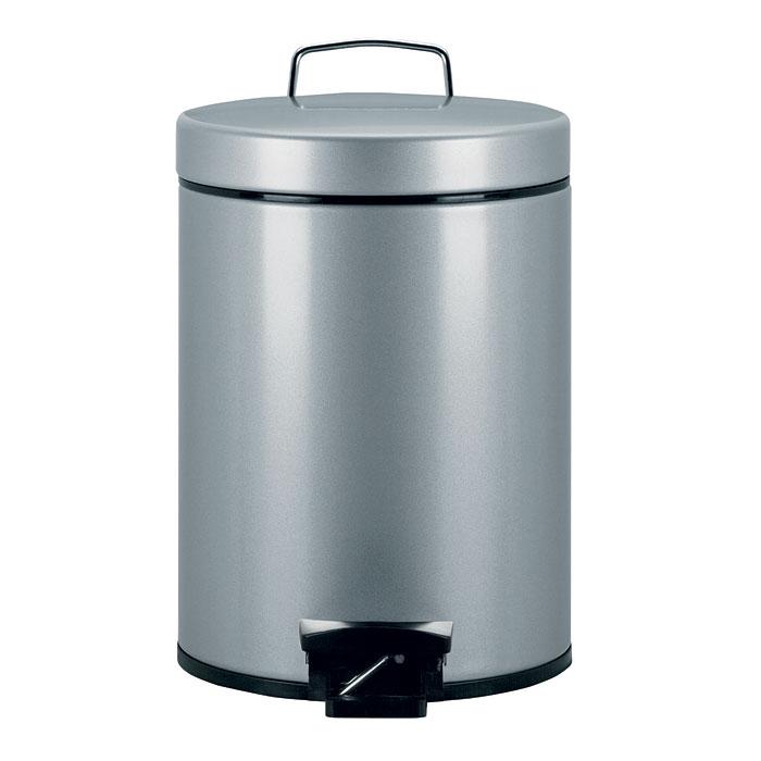 Бак мусорный Brabantia, с педалью, цвет: серый металлик, 5 л. 246623246623Мусорный бак Brabantia - идеальное решение для ванной комнаты и туалета! Бак предотвращает распространение запахов благодаря прочной, не пропускающей запахи металлической крышке. Особенности: Плавное и бесшумное открывание/закрывание крышки. Надежный педальный механизм, высококачественные коррозионно-стойкие материалы.Удобная очистка - прочное съемное внутреннее ведро из пластика. Бак удобно перемещать - прочная ручка для переноски. Отличная устойчивость даже на мокром и скользком полу - противоскользящее основание.Предохранение пола от повреждений - пластиковый защитный обод. Всегда опрятный вид - идеально подходящие по размеру мешки для мусора со стягивающей лентой (размер B).