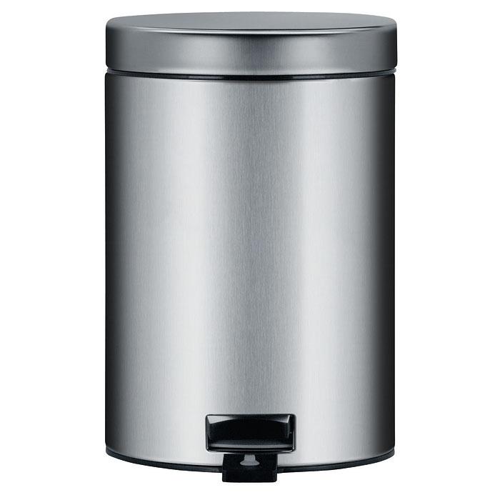 Бак мусорный Brabantia, с педалью, цвет: стальной матовый, 3 л. 348945348945Идеальное решение для ванной комнаты и туалета! Предотвращает распространение запахов – прочная не пропускающая запахи металлическая крышка. Плавное и бесшумное открывание/закрывание крышки. Удобная очистка – прочное съемное внутреннее ведро из пластика. Надежный педальный механизм, высококачественные коррозионно-стойкие материалы. Бак удобно перемещать – прочная ручка для переноски. Отличная устойчивость даже на мокром и скользком полу – противоскользящее основание. Предохранение пола от повреждений – пластиковый защитный обод. Всегда опрятный вид – идеально подходящие по размеру мешки для мусора со стягивающей лентой (размер A). 10-летняя гарантия Brabantia.