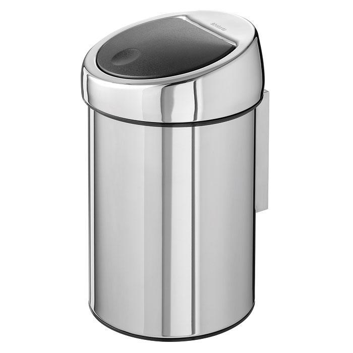 Бак мусорный Brabantia Touch Bin, цвет: стальной полированный, 3 л. 363962363962Бесшумное открывание/закрывание крышки легким касанием – система «Soft Touch». Удобная смена мешков для мусора – съемная крышка из нержавеющей стали. Предусмотрено крепление к стене – бак поставляется в комплекте с настенным кронштейном из нержавеющей стали. Легко снимается с настенного кронштейна для тщательной очистки. Удобная очистка – прочное съемное внутреннее ведро из пластика. Предохранение пола от повреждений – пластиковый защитный обод. Бак изготовлен из коррозионностойких материалов – долговечность и удобство в очистке. Всегда опрятный вид – в комплекте идеально подходящие по размеру мешки для мусора PerfectFit (размер A).