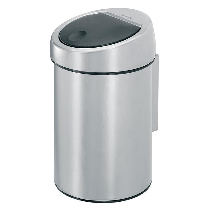 Мусорный бак Brabantia Touch Bin, 3 л363986Бесшумное открывание/закрывание крышки легким касанием – система «Soft Touch». Удобная смена мешков для мусора – съемная крышка из нержавеющей стали. Предусмотрено крепление к стене – бак поставляется в комплекте с настенным кронштейном из нержавеющей стали. Легко снимается с настенного кронштейна для тщательной очистки. Удобная очистка – прочное съемное внутреннее ведро из пластика. Предохранение пола от повреждений – пластиковый защитный обод. Бак изготовлен из коррозионностойких материалов – долговечность и удобство в очистке. Всегда опрятный вид – в комплекте идеально подходящие по размеру мешки для мусора PerfectFit (размер A).
