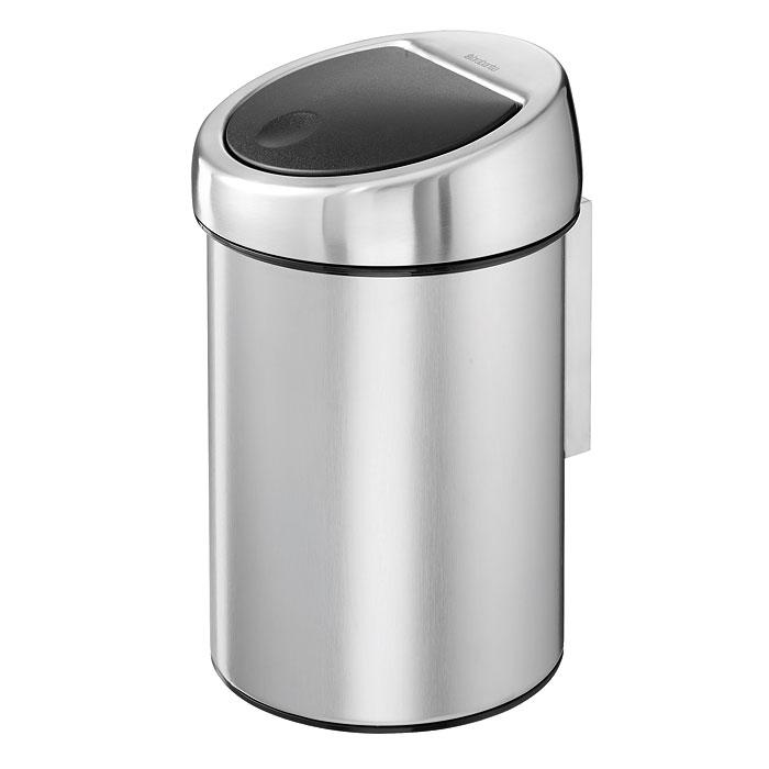 Бак мусорный Brabantia Touch Bin, цвет: стальной матовый, 3 л. 378645 brabantia мусорный бак touch bin 30 л