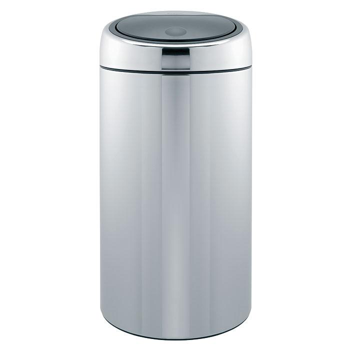 Бак мусорный Brabantia Touch Bin, цвет: стальной полированный, 45 л. 39081AWG-N-02_бело-серыеБесшумное открывание/закрывание крышки легким касанием – система «Soft Touch».Удобная смена мешков для мусора – съемный блок крышки из нержавеющей стали.Удобная очистка – съемное внутреннее ведро из пластика с вентиляционными отверстиями, предотвращающими образование вакуума при вынимании полного мусорного мешка.Легкое перемещение с места на место – прочная ручка для переноски.Предохранение пола от повреждений – пластиковый защитный обод.Бак изготовлен из коррозионностойких материалов – долговечность и удобство в очистке.Всегда опрятный вид – идеально подходящие по размеру мешки для мусора PerfectFit (размер L).
