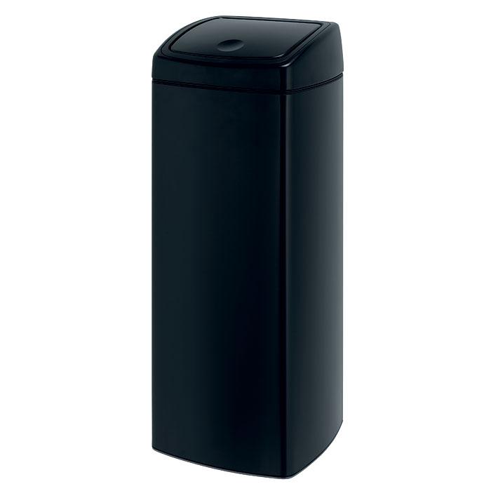 Бак мусорный Brabantia Touch Bin, прямоугольный, цвет: матовый черный, 25 л415906Бесшумное открывание/закрывание крышки легким касанием – система «Soft Touch». Компактный бак – удобно устанавливается вплотную к стене или в угол. Удобная очистка – съемное внутреннее ведро из пластика с вентиляционными отверстиями, предотвращающими образование вакуума при вынимании полного мусорного мешка. Покрытие с защитой от отпечатков пальцев (FPP). Всегда опрятный вид – в комплекте идеально подходящие по размеру мешки для мусора PerfectFit (размер G).