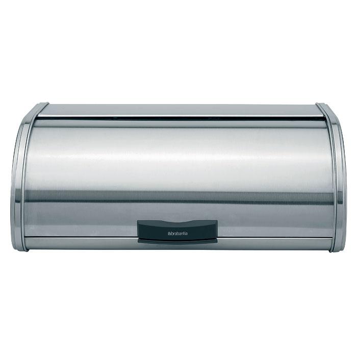 Хлебница Brabantia Touch Bin, цвет: матовый стальной397066Хлебница Brabantia Touch Bin, изготовленная из высококачественной матовой стали, прекрасно сохранит хлеб свежим, а также украсит вашу кухню. Хлебница не поглощает запахов и не окрашивается, сверху имеет плоскую ровную основу для складывания коробок и банок. Крышка не занимает дополнительного места для открытия и оснащена фирменной системой закрытия soft-touch - бесшумно открывается одним нажатием. Ручка предотвращает качание крышки, обеспечивая дополнительную устойчивость, а поверхность с отверстиями у основания - дополнительную циркуляцию воздуха. Эксклюзивный дизайн, эстетика и функциональность хлебницы делают ее превосходным аксессуаром на вашей кухне. Характеристики: Материал:нержавеющая сталь. Цвет:матовый стальной. Размер хлебницы:44,5 см х 25,5 см х 16,5 см. Размер упаковки:45,5 см х 27,5 см х 18,5 см. Артикул:397066.Гарантия производителя: 5 лет.