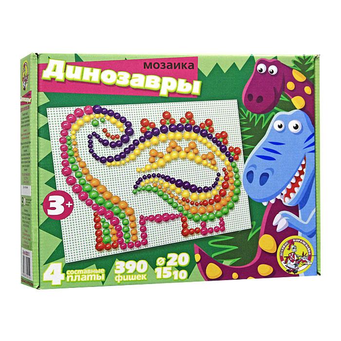 Мозаика Динозавры , 390 шт, Десятое королевство  - купить со скидкой