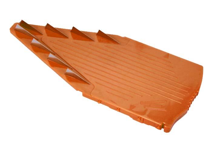 Вставка к овощерезке Borner Trend 10 мм 119/3119/3Дополнительная вставка для овощерезки выполнена в виде V-образной рамы с ножами 10 мм из пластика и металла. Вставка подходит для нарезки любых овощей и фруктов на длинные или короткие брусочки, крупные кубики. Характеристики: Материал: пластик, металл. Цвет: оранжевый. Размер: 21 см х 9,7 см. Длина ножей: 3 см. Высота ножей: 10 мм. Размер упаковки: 26 см х 10 см х 2 см. Производитель: Германия. Артикул: 119/3.