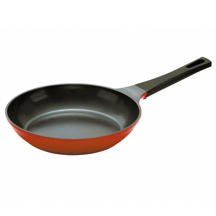 Сковорода Frybest Orange, 28cм, цвет:оранжевый/темное внутр. покрытие ORCA-F28