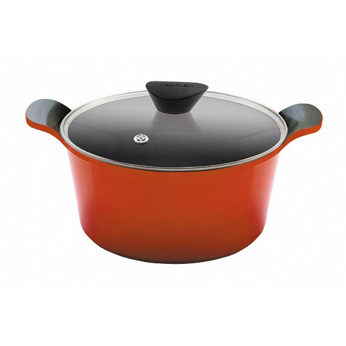 Кастрюля Frybest Orange c крышкой, 4,5л, цвет:оранжевый/темное внутр. покрытие ORCV-C24ORCV-C24Кастрюля со стеклянной крышкой Frybest выполнена из алюминия с керамическим покрытием как внутри, так и снаружи. Экологичное антипригарное покрытие позволяет готовить практически без масла. Оно устойчиво к царапинам - можно использовать металлические аксессуары и легко моется. Темное внутренее покрытие. Кастрюля имеет уникальные, очень удобные, алюминиевые интегрированные ручки. Крышка изготовлена из закаленного жаропрочного стекла и оснащена усиленным пароотводом, который эффективно удаляет избыточное давление.Сковорода подходит для электрической, стеклокерамической, газовой игалогеновой плиты.Мощная основа из литого алюминияСпециальное утолщенное дно для идеальной теплопроводностиЭргономичная, удлиненная soft-touch ручка всегда остается холоднойКерамическое антипригарное покрытие позволяет готовить практически без маслаКерамика как внутри, так и снаружи. Легко готовить — легко мытьНепревзойденнаяпрочность и устойчивость к царапинам. Можно использовать металлические аксессуарыПоследнее корейское НОУ-ХАУ — слой анионов (отрицательно заряженных ионов), обладающих антибактериальными свойствами. Они намного дольше сохраняют приготовленную пищу свежейСостоит из натуральных материалов, не выделяет вредных химических веществ впроцессе готовки Характеристики:Материал: алюминий, стекло. Диаметр (без ручек):24 см.Высота кастрюли (без крышки):12 см. Объем:4,5 л. Размер упаковки:27,5 см х 25,5 см х 18 см. Изготовитель:Южная Корея. Артикул:ORCV-C24.