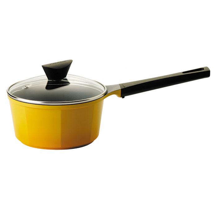 Ковш Frybest Posh c крышкой, 2л, цвет:желтый/темное внутр. покрытие CV-S18CV-S18Ковш Frybest изготовлен из алюминия с керамическим покрытием как внутри, так и снаружи. Он идеально подойдет для приготовления различных каш, соусов, кремов. Экологичное антипригарное покрытие Ecolon позволяет готовить практически без масла. Оно устойчиво к царапинам - можно использовать металлические аксессуары и легко моется. Ковш оснащен удобной ручкой и стеклянной крышкой с металлическим ободом, которая позволит контролировать процесс приготовления. Усиленный пароотвод эффективно удаляет избыточное давление.Посуда подходит для электрической, стеклокерамической, газовой игалогеновой плиты, кроме индукционных. Можно мыть в посудомоечной машине.Элегантный художественный дизайн изделий.Высочайшее качество литья — идеальная поверхность изделий.Уникальные, очень удобные, алюминиевые интегрированные ручки.Возможность использовать посуду как на всех типах плит, так и внутри духовки.Эстетически привлекательная текстура дна.Запатентованная система пароотвода на стеклянной крышке с усиленным пароотделением.Возможность использования для сервировки стола, в силу художественного дизайна изделий.Экологическое керамическое покрытие позволяет хранить посуду с пищей вхолодильнике. Характеристики: Материал: алюминий, бакелит, стекло.Диаметр: 18 см.Высота стенки:9,5 см.Объем:2 л.Длина ручки:21 см.Размер коробки:39 см х 19,5 см х 13 см. Производитель: Южная Корея.Артикул: CV-S18.