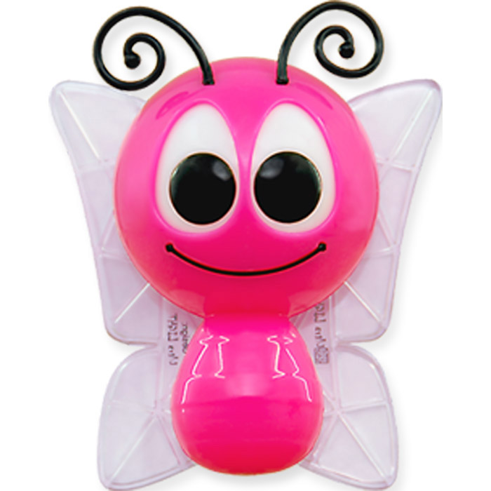 Светильник-ночник Бабочка. CZ-3(D)LED304Светильник-ночник Бабочка с фотоэлементом является световым ориентиром и успокаивающим фактором для детей и взрослых в темное время суток. Полностью безопасен для людей и домашних животных, не нагревается. Светильник-ночник Бабочка, выполненный в виде забавной бабочки с прозрачными крылышками, отличается цветовым решением и интересным дизайном. Непрерывная работа в течение ночи. Прямое подключение к розеткам европейского стандарта. В корпус светильника встроен фотоэлемент, реагирующий на окружающее освещение.Светильник изготовлен из высокотехнологичных материалов и соответствует общеевропейским и национальным стандартам. Особенности светильника-ночника:Корпус из ABS-пластика, прозрачные крылышки и гибкие антенки-усики.Интересный аксессуар для дома и оригинальный подарок.Плавное изменение цвета освещения во время работы (красный, зеленый, синий) создает атмосферу уюта и покоя.Низкое потребление электроэнергии (0,2Вт). Включается автоматически при уровне освещения 10LX. Характеристики:Материал: пластик.Цвет: розовый, белый.Источник света: LED 0,5 Вт.Напряжение: 220 В.Размер светильника: 10 см х 9 см х 8 см.Размер упаковки: 13 см х 8,5 см х 16,5 см.Гарантия: 1 год.Артикул: CZ-3(D)LED.Изготовитель: Китай.Торговая маркаУльтра ЛАЙТпоявилась на российском рынке в 1997 году. Основное направление деятельности - настольные светильники и ночники. Ассортимент продукции составляют светильники эконом-класса и эксклюзивные модели, а с 2005 года, в том числе, светильники собственного дизайна. Отличительные особенности настольных светильников дизайна Ультра ЛАЙТ - изящество, функциональность и качественное исполнения. Цветовая гамма плафонов на любой взыскательный вкус - яркая жизнеутверждающая и классическая. Коллекция включает в себя детские светильники со встроенным в корпус ночником, сенсорные светильники, светильники-копилки, светильники-часы, ночники в виде животных, птиц и насекомых, а также модели с фотоэлементом на светодиодах с плавн
