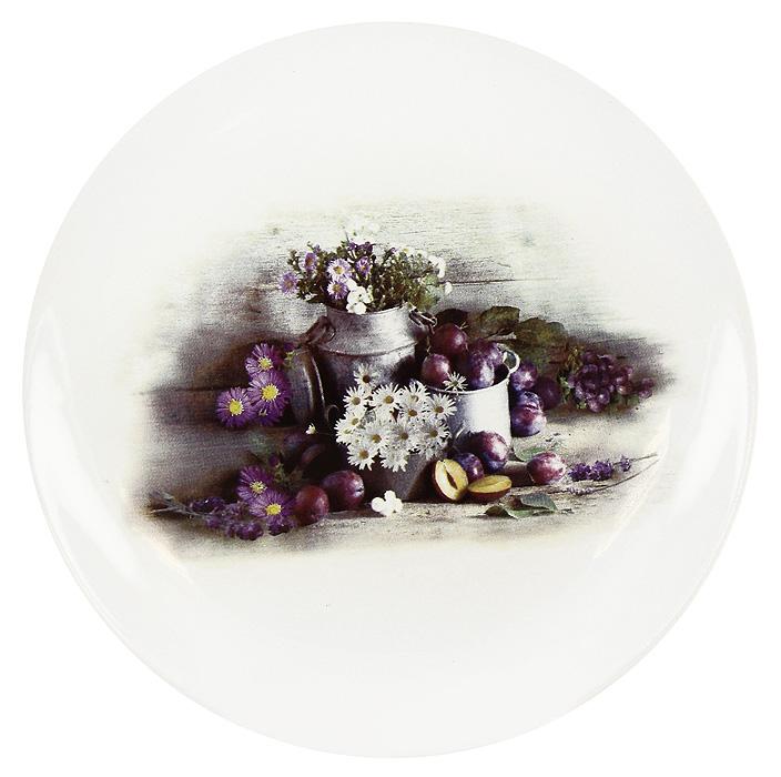 Тарелка Натюрморт с ромашками, диаметр 17 см